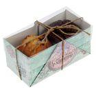 "Коробочка для кексов ""Снежные радости"", 8 х 16 х 7,5 см"
