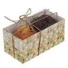 """Коробочка для кексов """"Новогодние ёлочки"""", 8 х 16 х 7,5 см"""