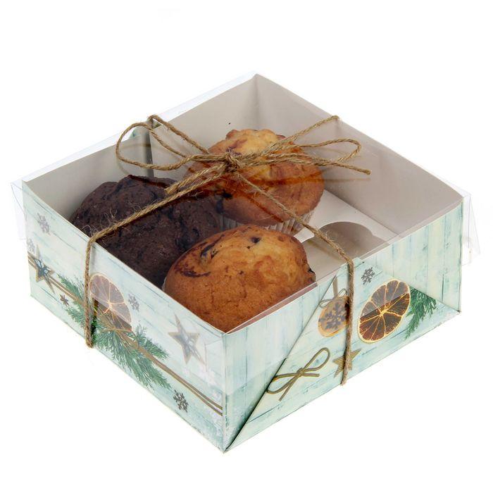 """Коробочка для кексов """"Нежности и тепла!"""",16 х 16 х 7,5 см"""