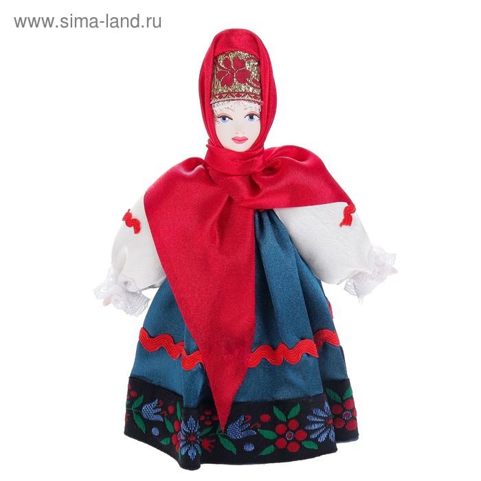 """Сувенирная кукла """"Крестьянка в традиционном костюме"""" Центральная Россия"""