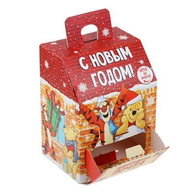 """Коробка подарочная """"Новогодняя почта"""" Медвежонок Винни и его друзья , 15 х 20 х12 см"""