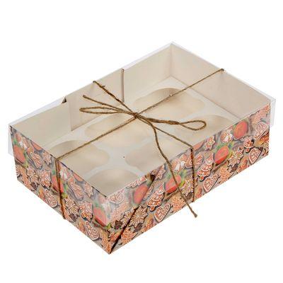 """Коробочка для кексов """"Ароматы Нового года"""", 16 х 23 х 7,5 см"""