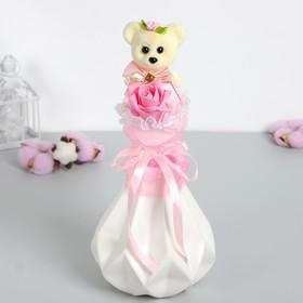 Букет «От всей души!», розовый цветок