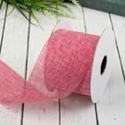 Лента декоративная холщовая, ширина 60мм, 4,5±1м, цвет розовый