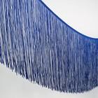 """Тесьма декоративная """"Бахрома"""", ширина 30см, длина 5±1м, цвет синий"""