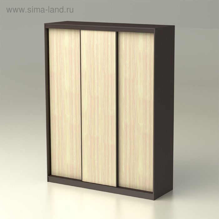 Шкаф-купе 3-х створчатый Лада 0 1754х572х2300 венге/дуб млечный