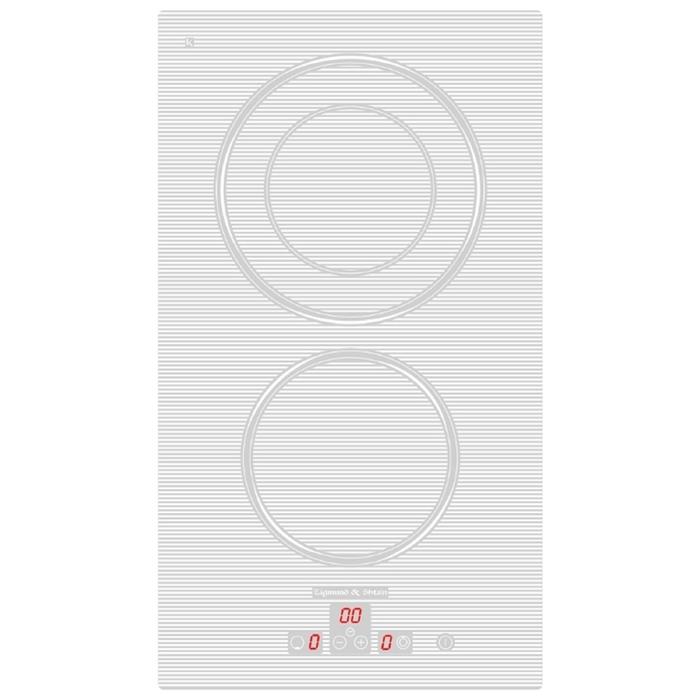 Варочная поверхность Zigmund & Shtain CNS 302.30 WX, электрическая, 2 конфорки, белая