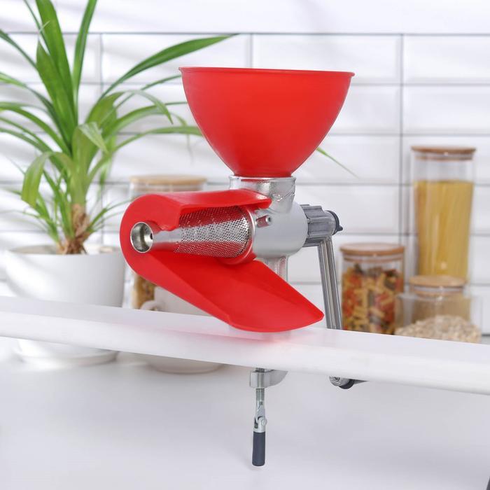 Соковыжималка чугунная, 30×13×27 см, цвет красный - фото 1655654