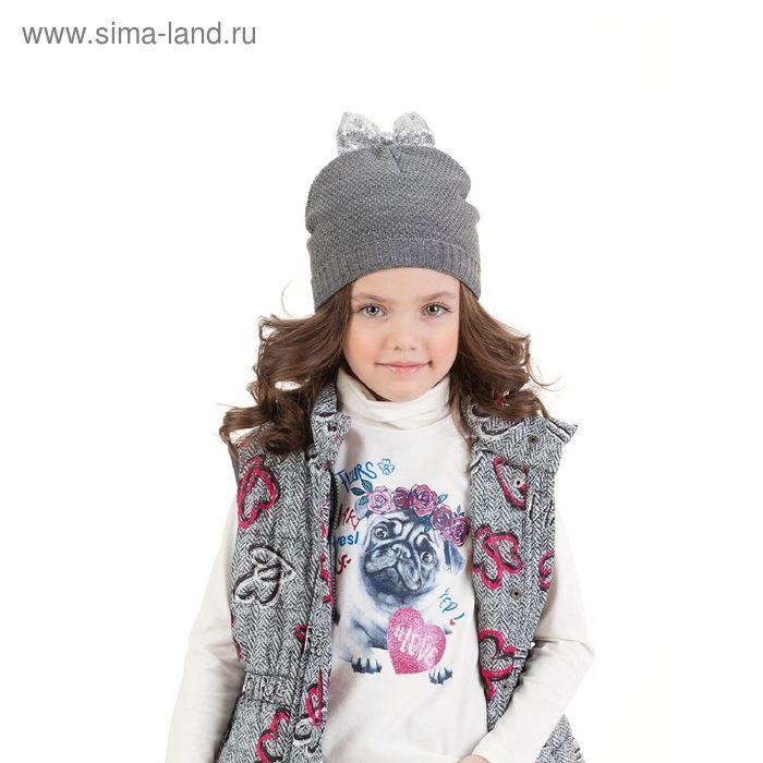 Шапка для девочек, размер 48-50, цвет серый GQ3006/1