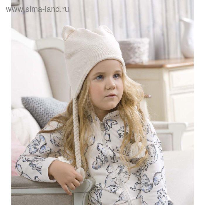 Шапка для девочек, размер 50-51,  цвет кремовый  GQ3003