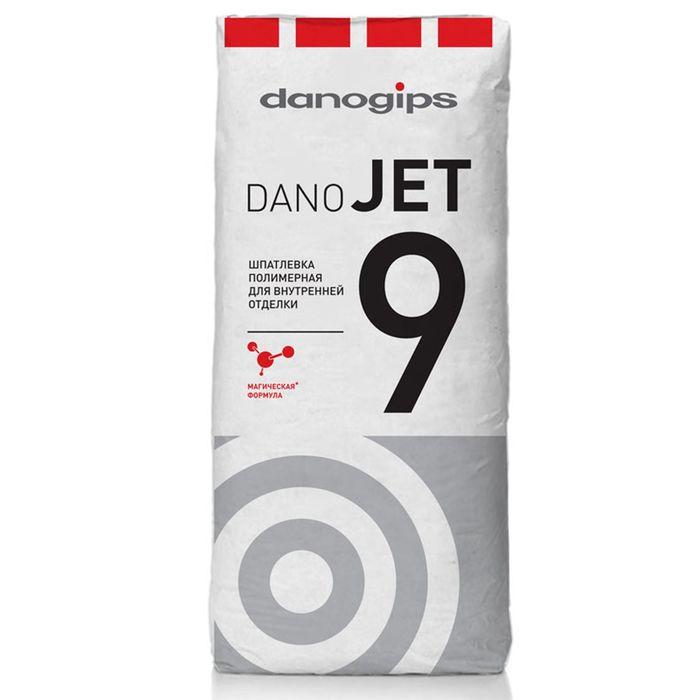 Шпатлёвка финишная полимерная для внутренней отделки Dano Jet 9, 20 кг (48 шт/пал)