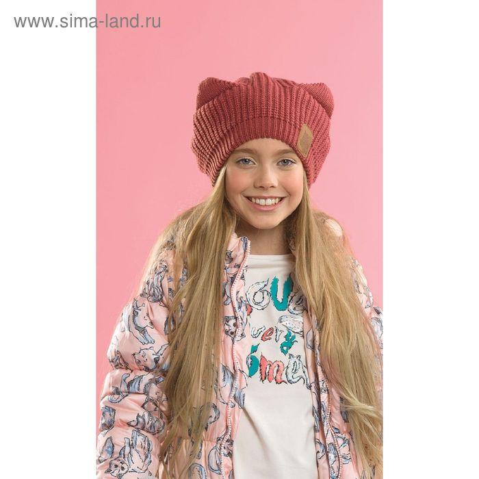 Шапка для девочек, размер 52-53,  цвет терракотовый  GQ4003
