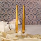 Набор свечей античных, 2 штуки, золотая
