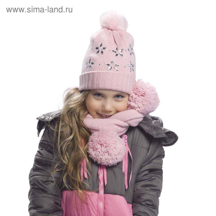 Шапка для девочек, размер 50-51, цвет розовый  GQ3005
