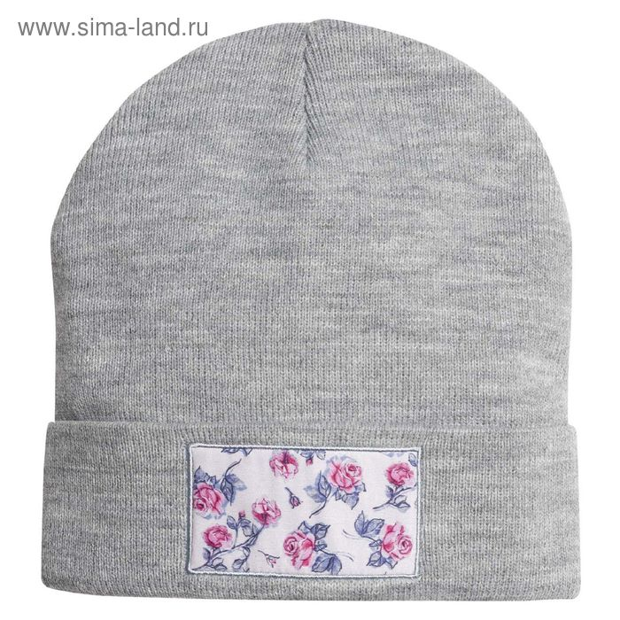 Шапка для девочек, размер 48-50, цвет серый  GQ3005/2