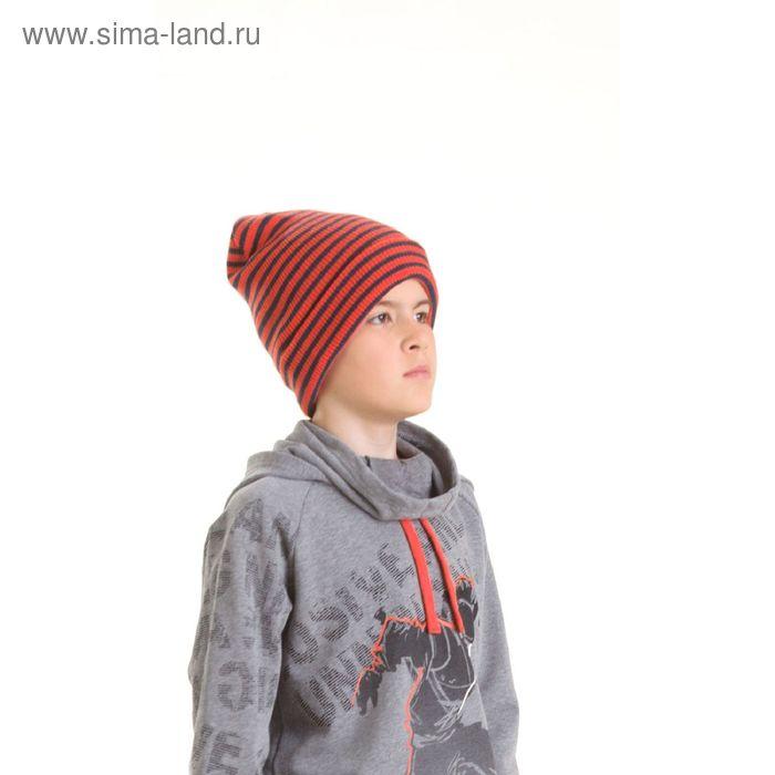 Шапка для мальчиков, размер 52-53, цвет  оранжевый  BQ473