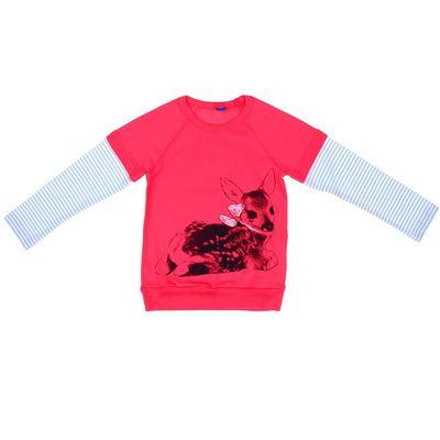 """Джемпер для девочки """"Олень с бантиком"""", рост 98-104 (28), цвет розовый (арт. Р857877_Д)"""