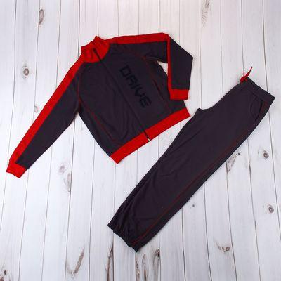 Комплект для мальчика (толстовка, брюки), рост 98-104 см, цвет чёрный (арт. 100-M_Д)