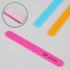 Nail file-emery, abrasiveness, 200/200, 18cm, classic, packing 20pcs, MIX color