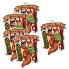 Шильдик декоративный на подарок «Новогоднее веселье», 7,5 × 10 см