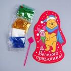 """Фреска форменная блестками """"Веселого праздника"""", Медвежонок Винни и его друзья, 5 цв. по 2 гр, стека"""