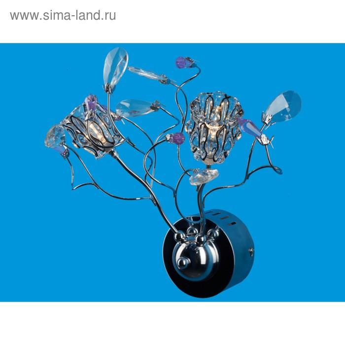 """Бра галоген """"Зафира"""" 2 лампы, основание хром (220V 20W G4)"""