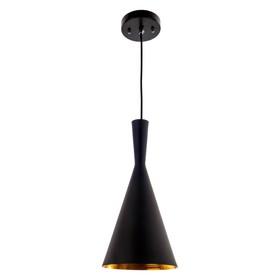 """Светильник потолочный лофт """"Каринтия"""" 1 лампа 40W E27 основание черный 19х19х100 см"""