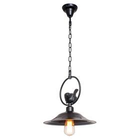 """Светильник потолочный лофт """"Штайр"""" 1 лампа 40W E27 основание черный 30х30х90 см"""