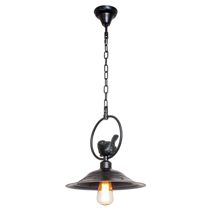 """Светильник потолочный лофт """"Штайр"""" 1 лампа 40W E27 основание черный 30х30х90 см - фото 1655990"""