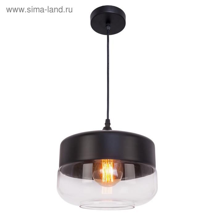 """Светильник потолочный """"Тульн"""" 1 лампа, чёрный"""