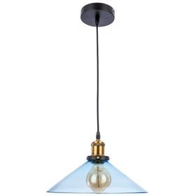 """Светильник потолочный лофт """"Ливадия"""" 1 лампа 40W E27 синий 30х30х110 см"""