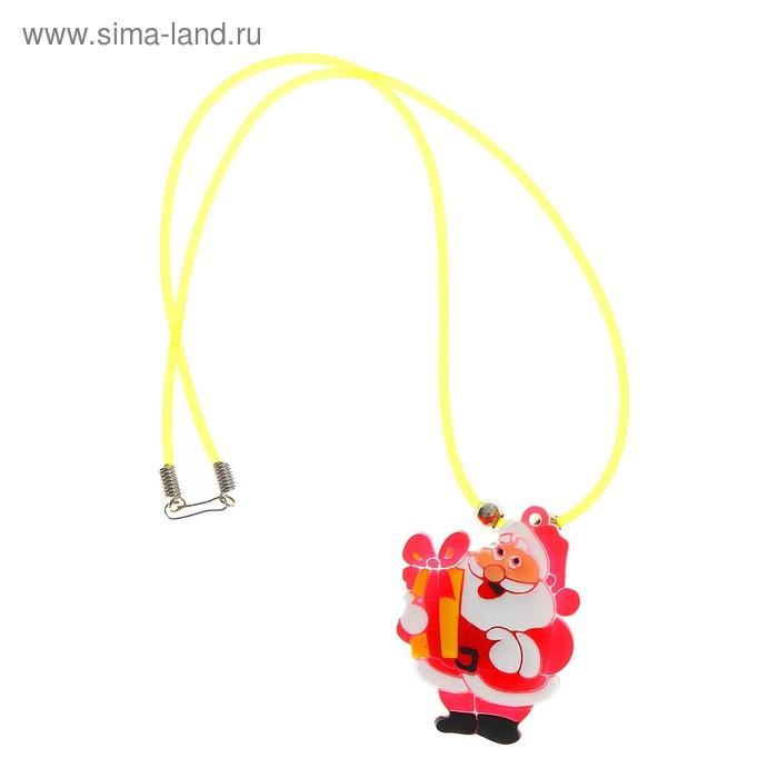 """Подвеска световая """"Дед Мороз с подарком"""""""