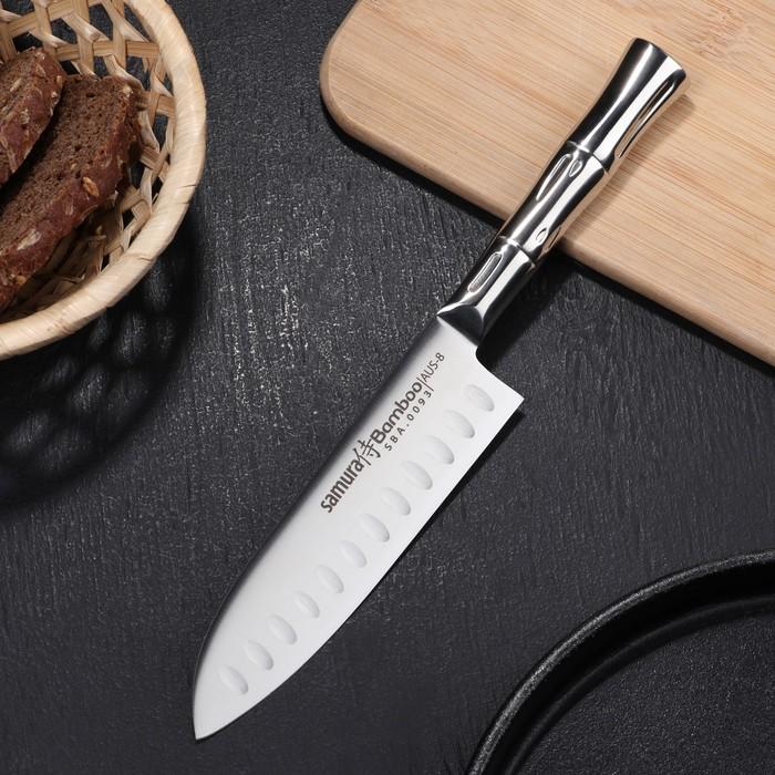Нож сантоку Samura Bamboo, лезвие 13,7 см, сталь AUS-8