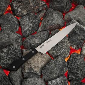 Нож Samura HARAKIRI универсальный, лезвие 15 см, чёрная рукоять, сталь AUS-8