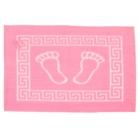 Коврик для ног махровый GURSAN с резиновой основой 50*70см розовый, 550 гр/м