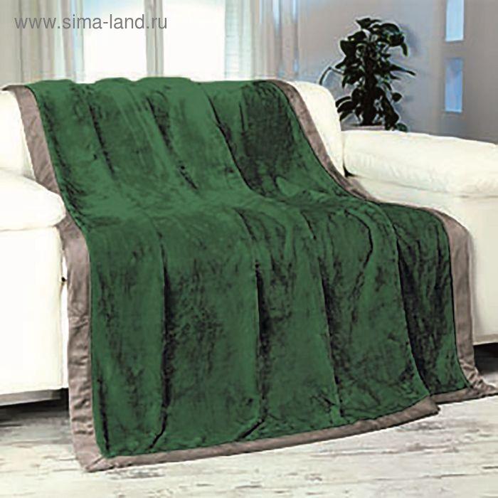 Плед GOEZZE Seiden-Feeling, 150X200, темно-зеленый