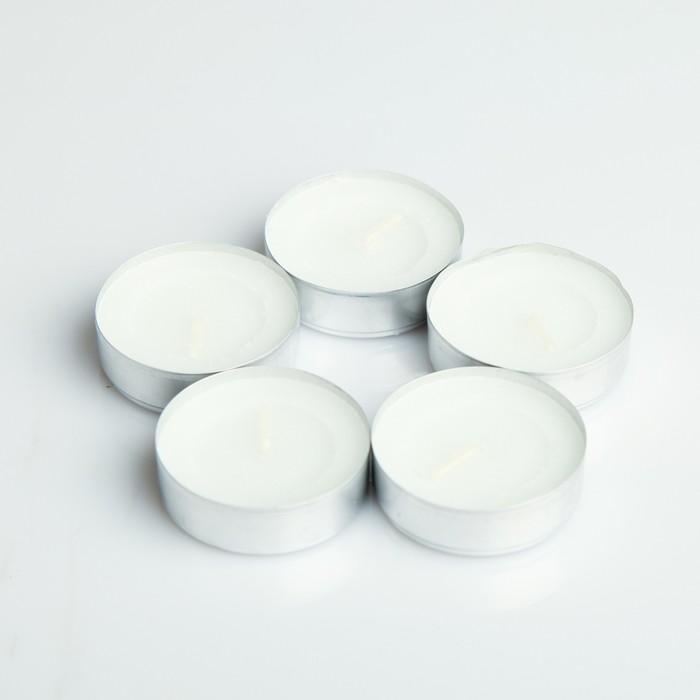 Набор чайных свечей, белый, 100 штук - фото 1526226