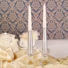 Набор свечей античных, 2 штуки, серебристо-белый