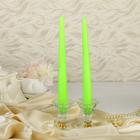 Набор свечей античных, 2 штуки, зелёный