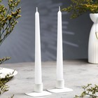 Набор свечей античных, 2 штуки, белый