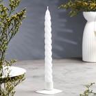 Свеча витая, 2,3х 24,5 см, белая