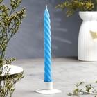 Свеча витая,  2,3х 24,5 см, синяя