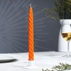 Свеча витая, 2,3х 24,5 см, оранжевая