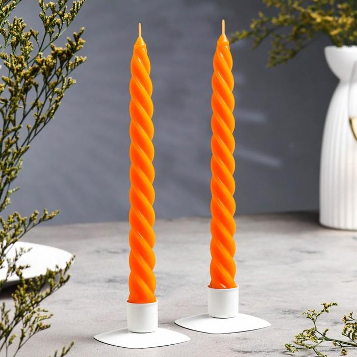 """Набор свечей витых ароматических """"Апельсин"""", 2 штуки"""