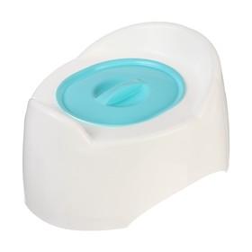 Горшок детский с крышкой «Малышок», цвет голубой