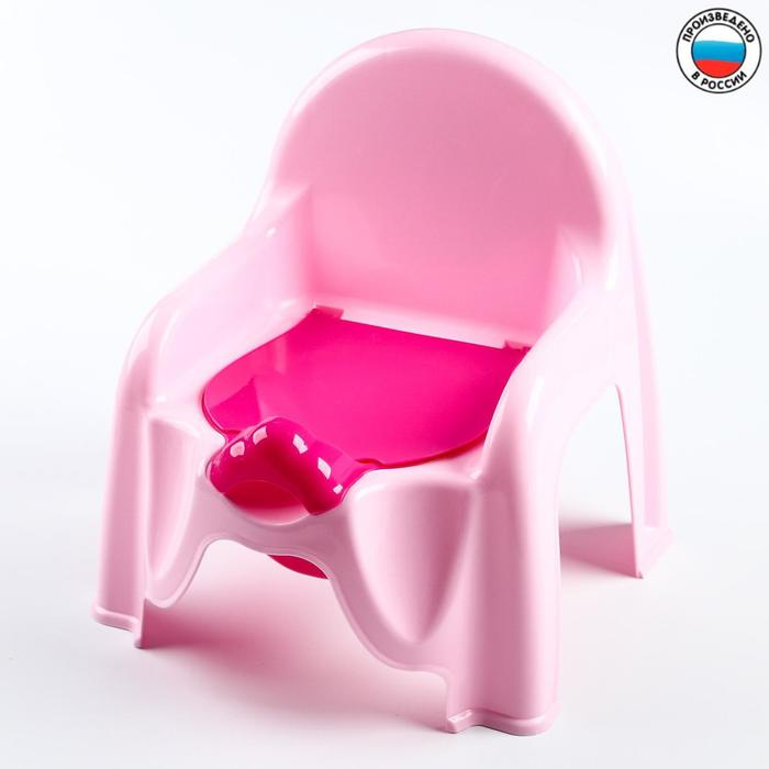 Горшок-стульчик с крышкой, цвет розовый