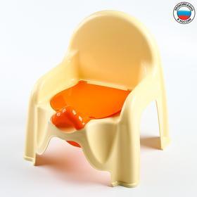 Горшок-стульчик с крышкой, цвет жёлтый