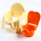 Горшок-стульчик с крышкой, цвет жёлтый - фото 106524841