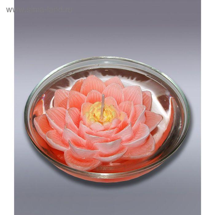Свеча плавающая лилия оранжевая