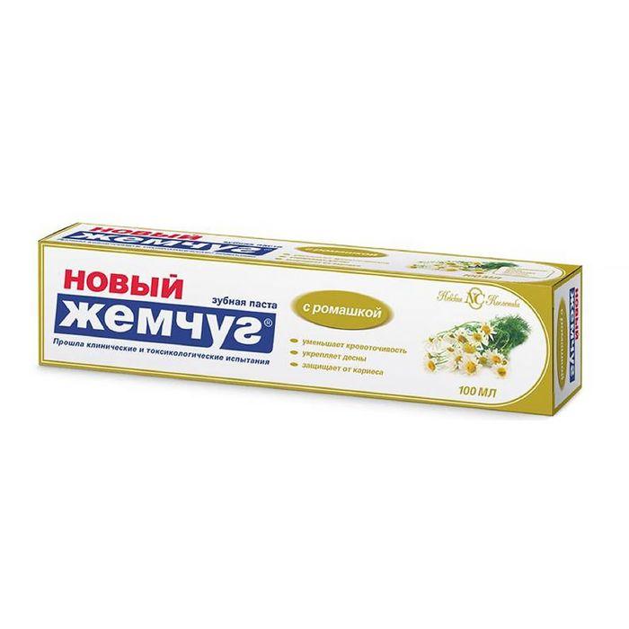 Зубная паста «Новый жемчуг», ромашка, 100 мл - фото 298205778